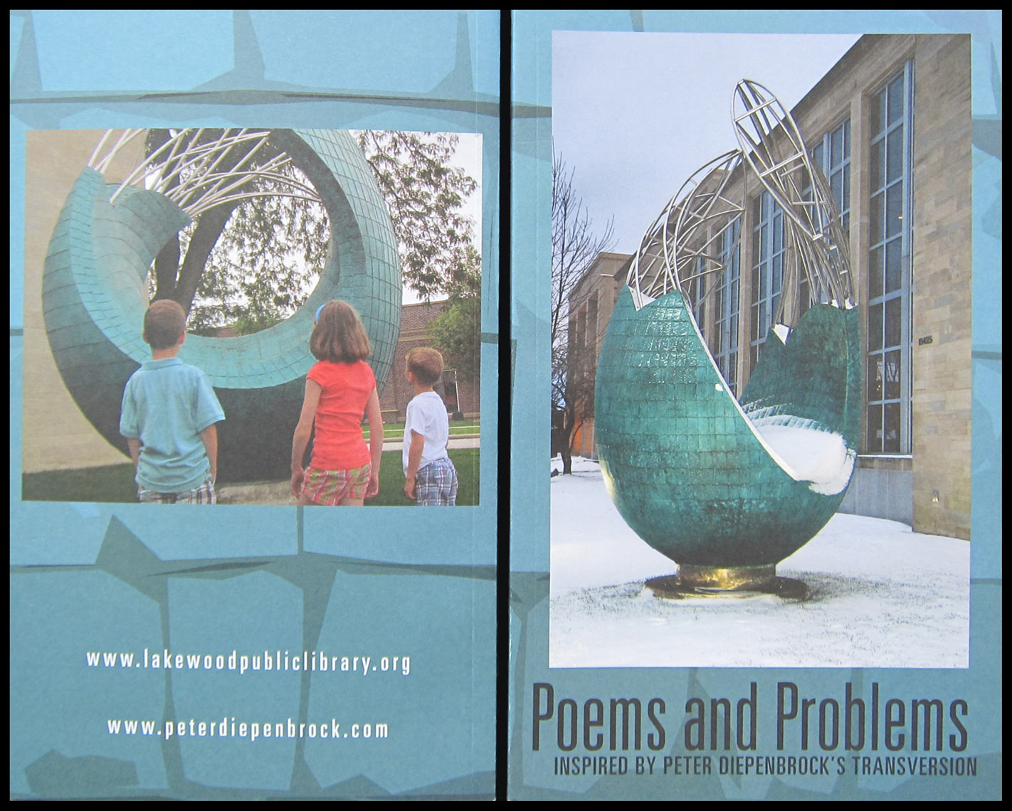 Lakewood Public library Publication featuring Transversion by Peter Diepenbrock