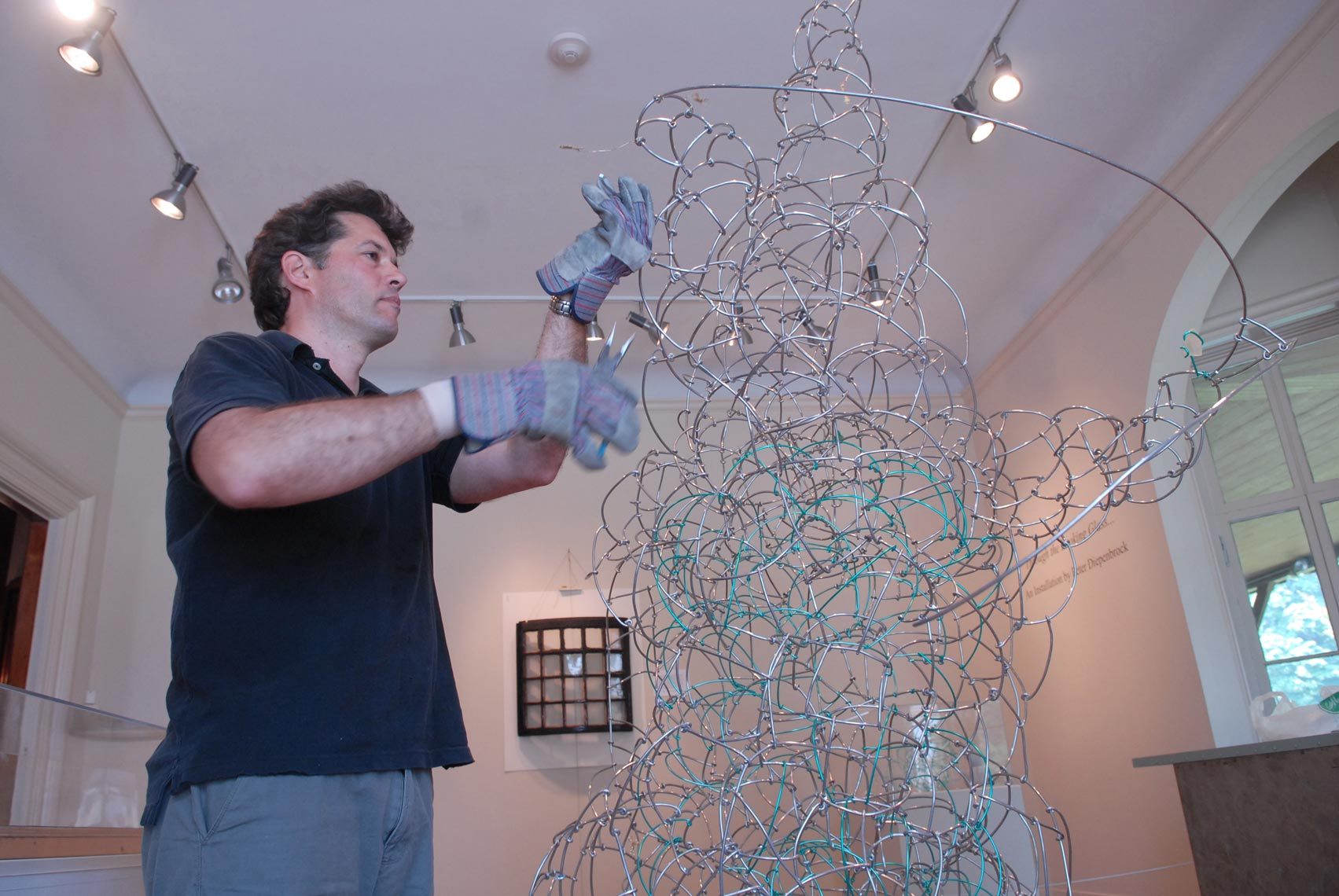 Peter Diepenbrock working at The Newport Art Museum