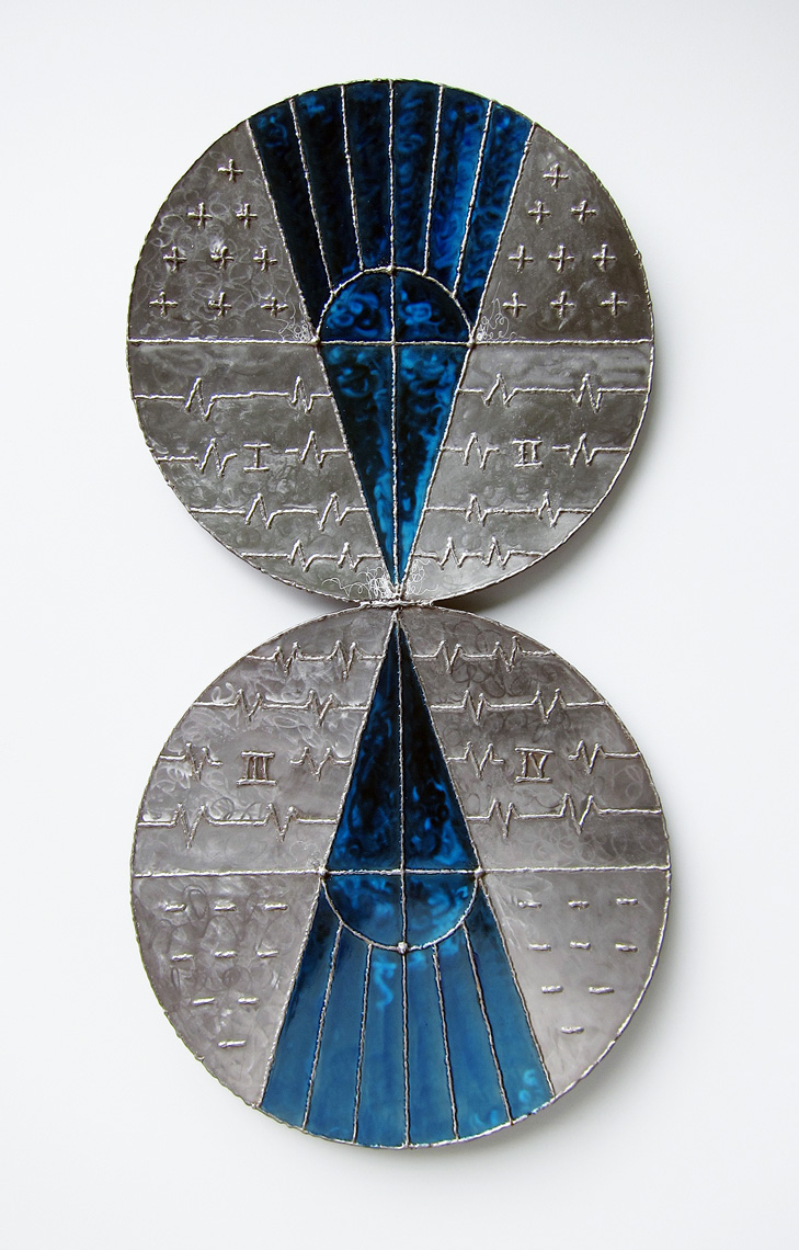 New-Polarities-In-Prussian-Blue Wall sculpture by Peter Diepenbrock at Didi Suydam Contemporary Jamestown RI