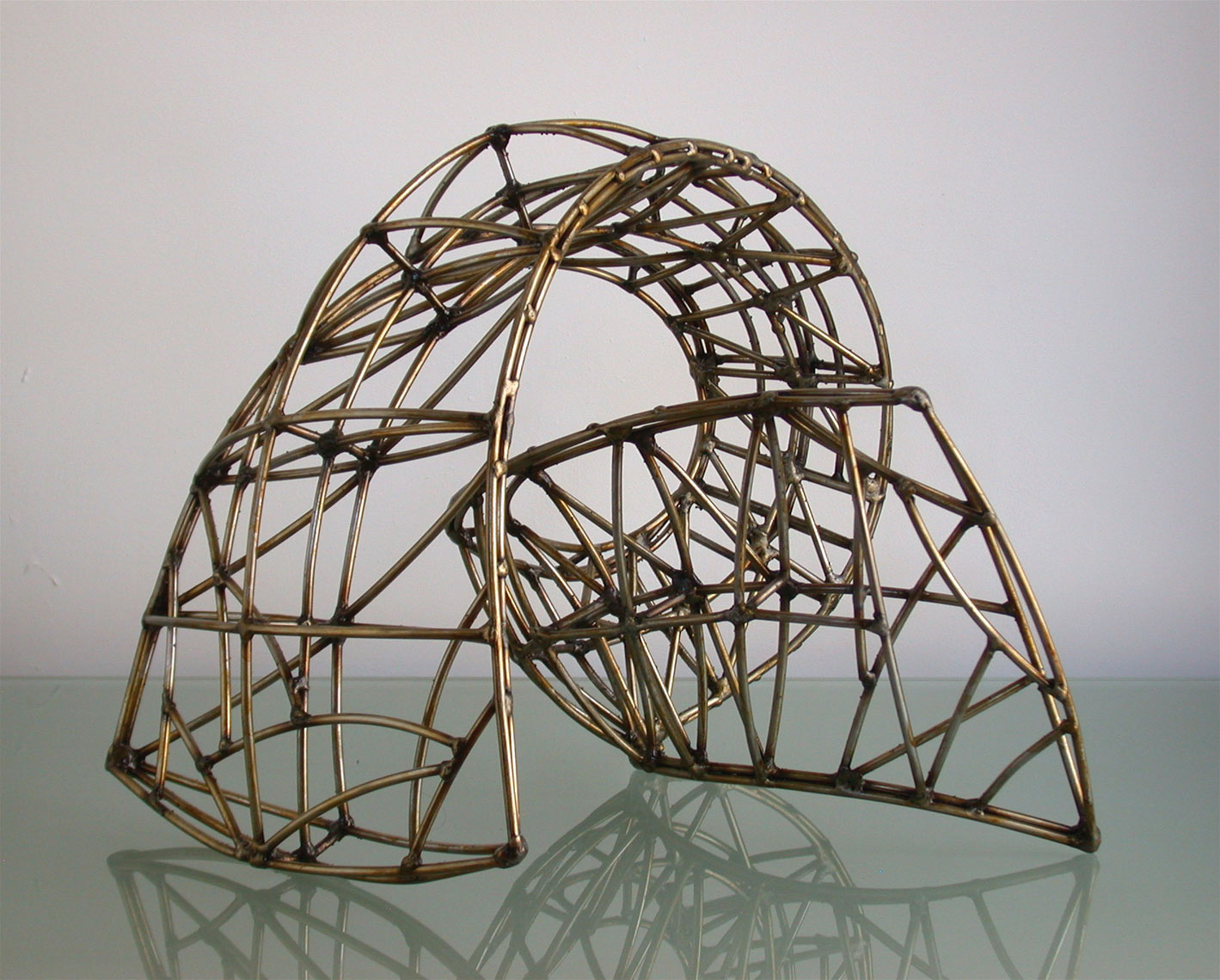 Torsion I wire-frame study by Peter Diepenbrock