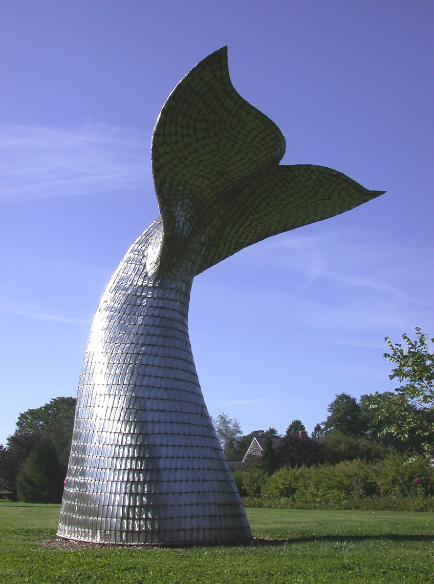 Whales Tail a monumental sculpture by Peter Diepenbrock