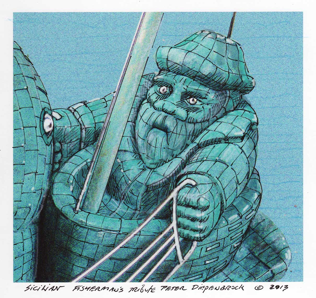 fisherman-face-drawing Fisherman