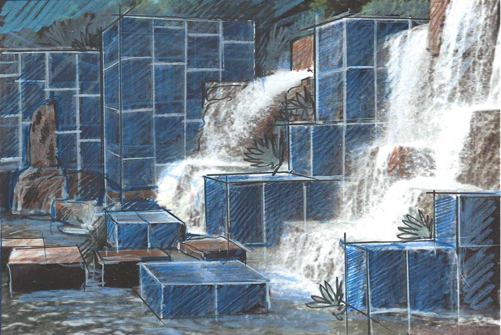 solar-quarry concept sketch by Peter Diepenbrock