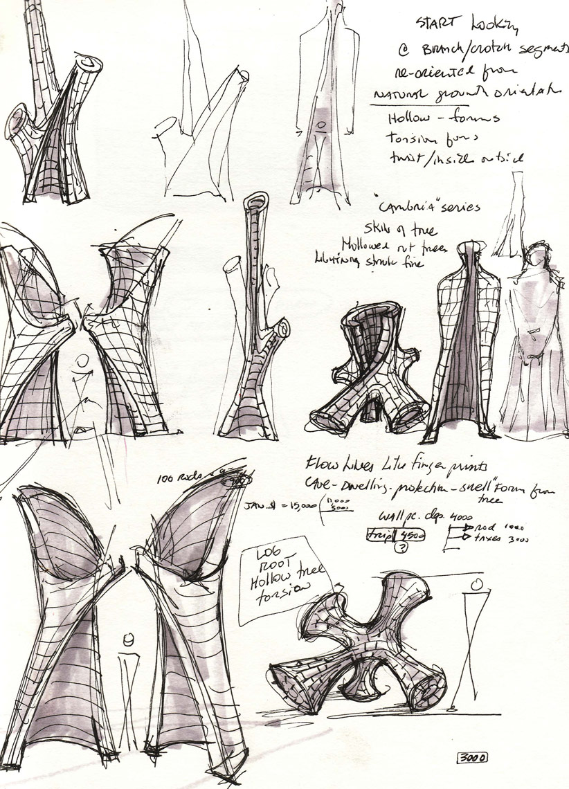 Sketch book page by Peter Diepenbrock
